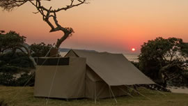 Pop up camp in Dinokeng Game Reserve